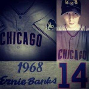 Ernie Banks #14 HOF Chicago Cubs jersey XL 52